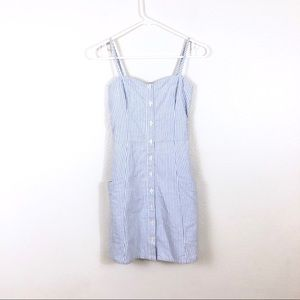 A&F Abercrombie & Fitch Blue White Striped Dress